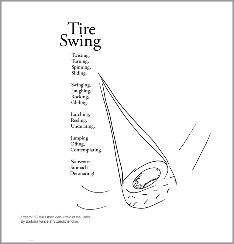 Tire Swing Suzie Bitner Was Afraid Of The Drain