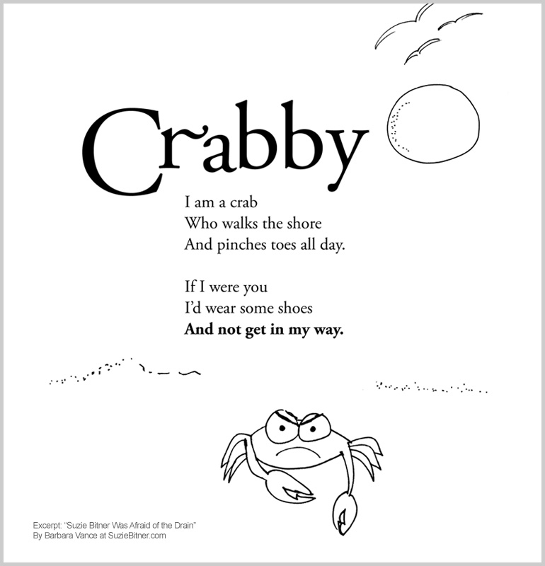 Crabby : Suzie Bitner Was Afraid of the Drain